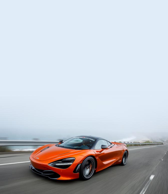 car orange race