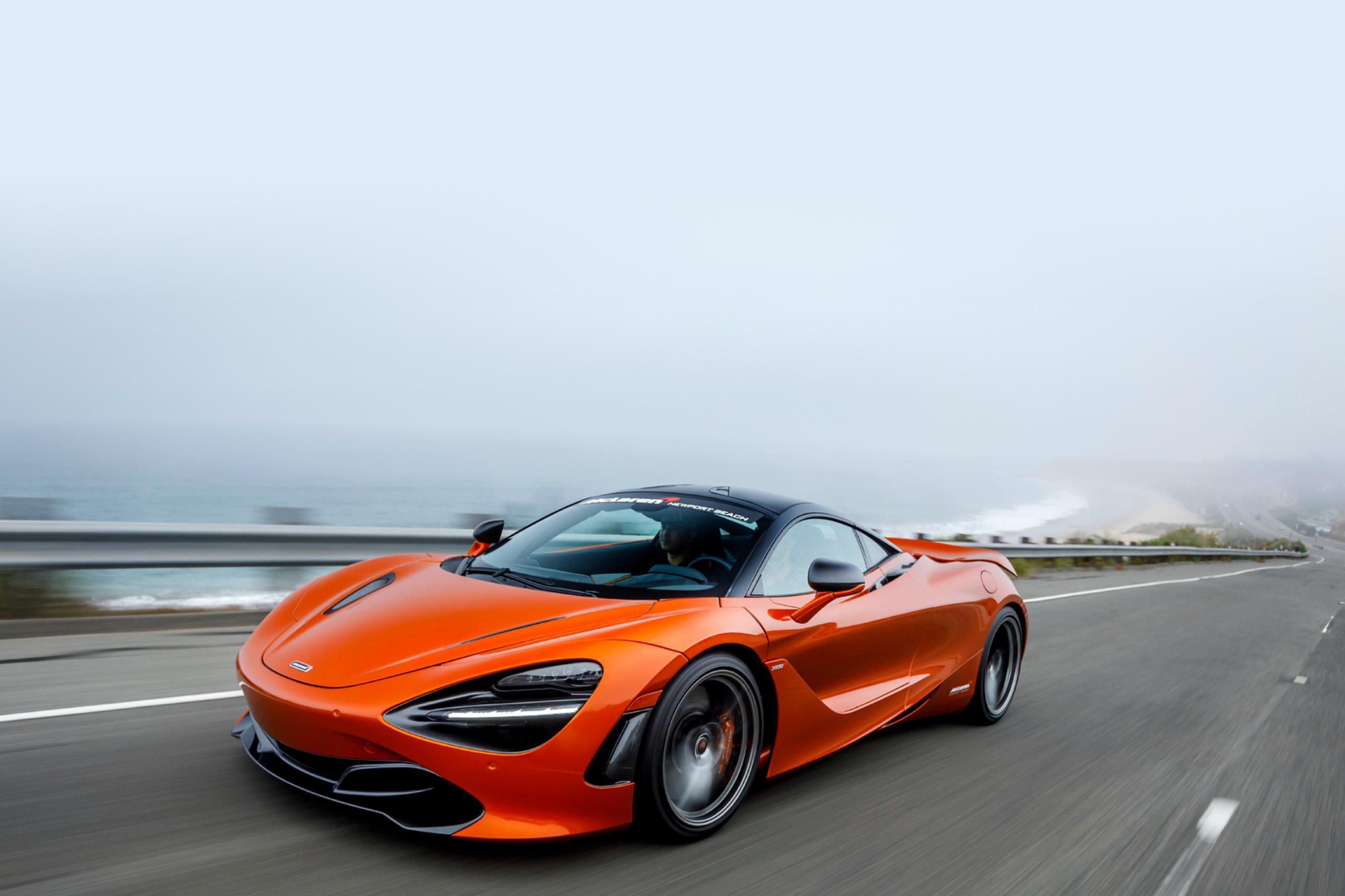 Orange car race